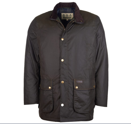 Barbour Hartlington Waxed Cotton Jacket Olive