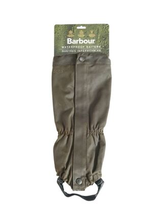 Barbour Wax Cotton Gaiters Olive