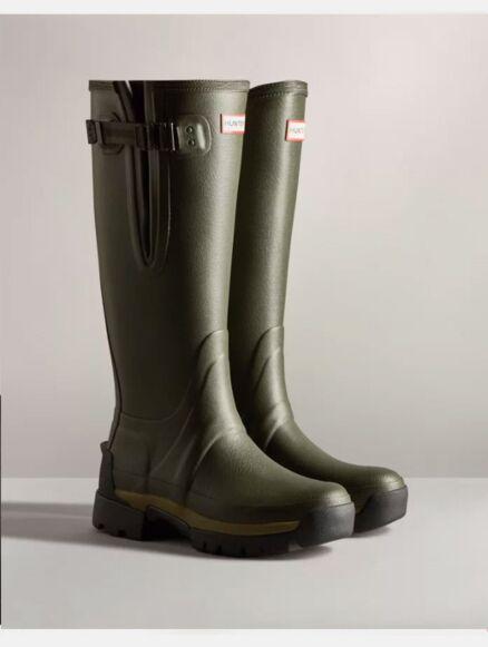 Hunter Women's Balmoral Side Adjustable Neo Tech Sole Boot Dark Olive