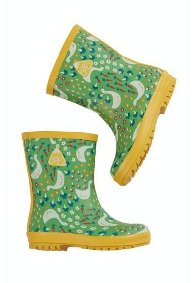 Frugi Puddle Buster Wellies Springtime Geese