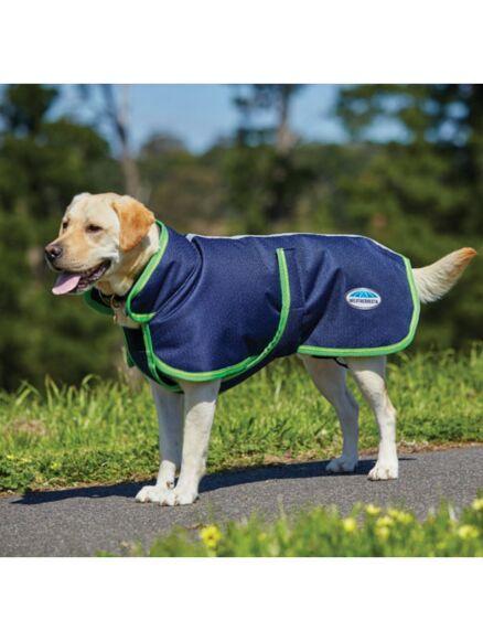 WeatherBeeta 1200D Parka Deluxe Dog Coat Navy/Lime