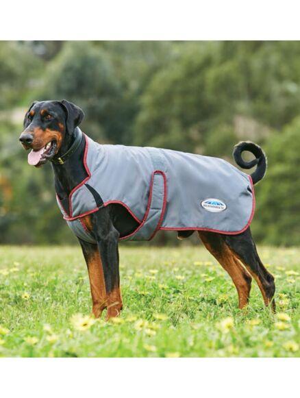 Weatherbeeta ComFiTec Windbreaker Free Deluxe Coat Grey/Burgundy