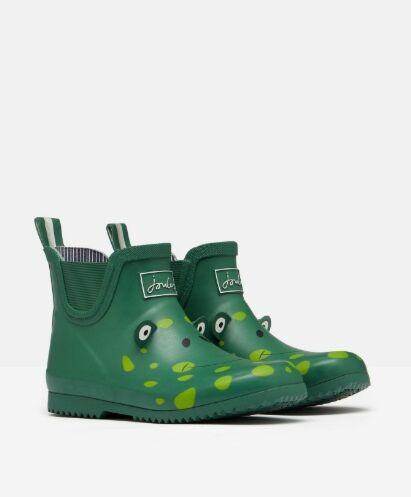 Joules Junior Wellibob Wellies Green Frog