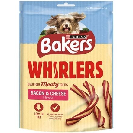 Bakers Whirlers Bacon & Cheese Adult Dog Treats