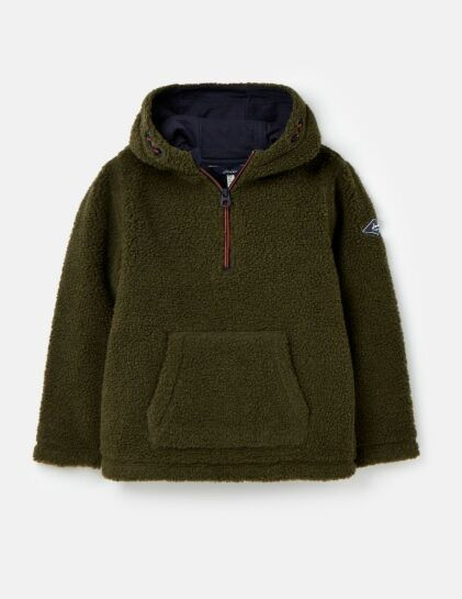 Joules Boys Whitacre Half Zip Fleece Dark Green