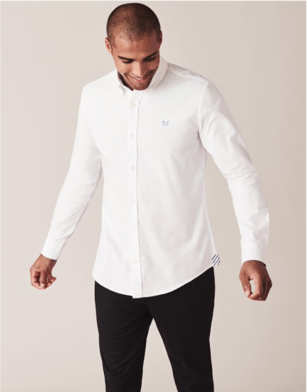 Crew Clothing Slim Oxford Shirt White