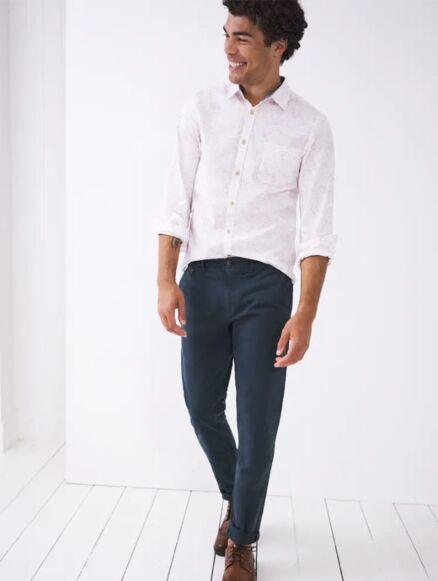 White Stuff Sutton Organic Chino Trouser Dark Navy