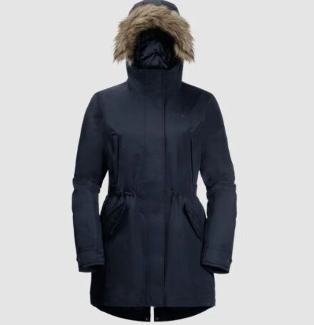 Jack Wolfskin Women's Wildwood Parka Midnight Blue