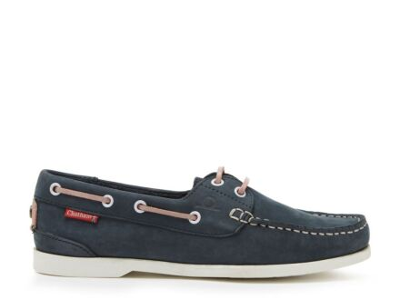 Chatham Willow Boat Shoe Navy/Pink