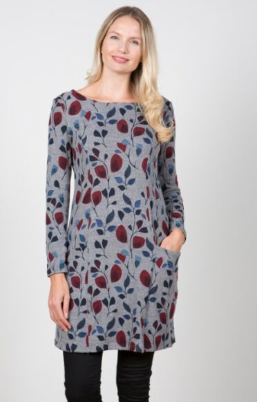 Lily and Me Winterbourne Tunic Flower Trail Grey
