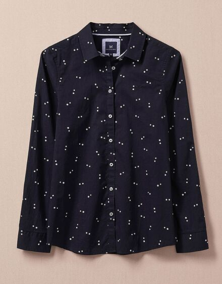 Crew Clothing Women's Alice Shirt Dark Navy Double Dot