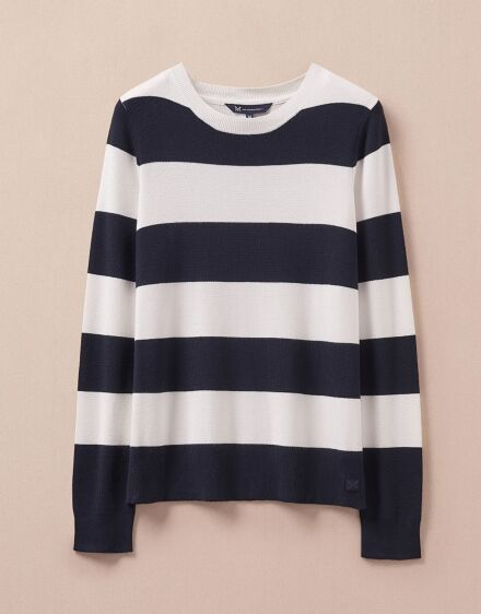 Crew Clothing Women's Sandford Jumper Navy/White