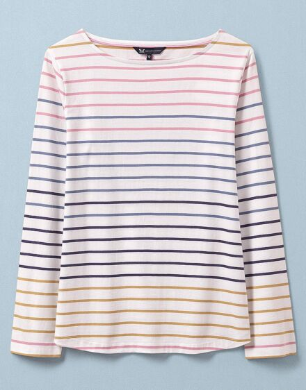 Crew Clothing Women's Long Sleeve Interest Breton Top Multi Stripe