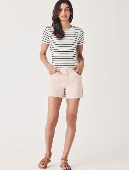 Crew Clothing Denim Shorts Pink