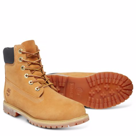 "Timberland Womens Iconic 6"" Premium Boots Wheat"