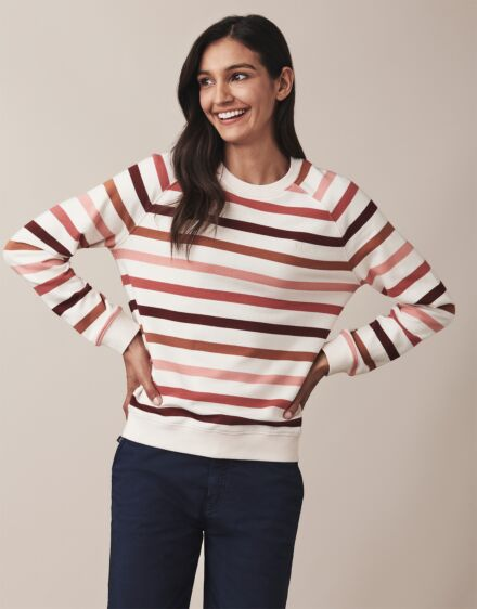Crew Clothing Stripe Sweater Cloud Multi