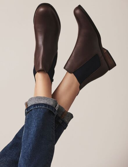 Crew Clothing Women's Chelsea Boots Chocolate Leopard