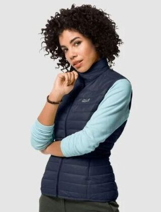 Jack Wolfskin Women's JWP Quilted Gilet Night Blue