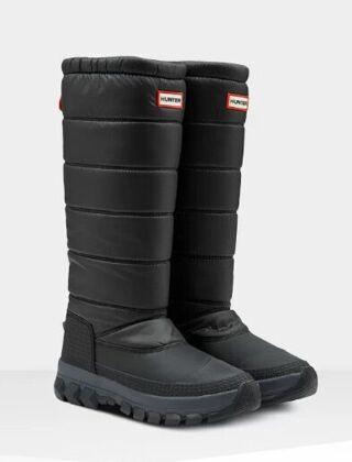 Hunter Women's Original Tall Insulated Snow Boot Black