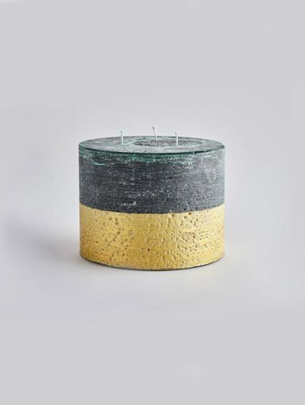 St Eval Winter Thyme Gold Half-Dipped Multiwick Candle