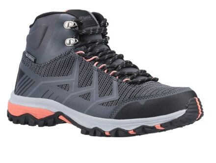 Cotswold Wychwood Mid Hiking Boots Grey/Coral