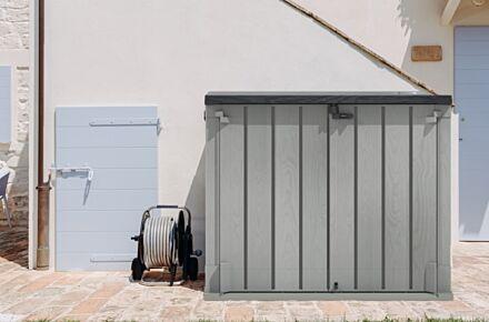 Forest Gardens Extra Large Garden Storage Unit / Bin Store - 1200 litre grey
