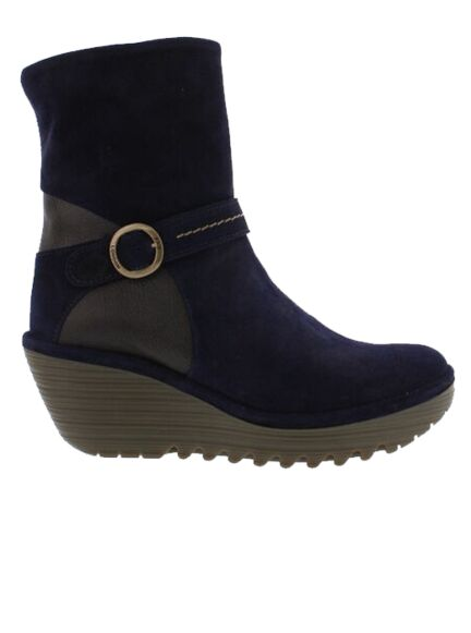 Fly London Yome 083 Boots Navy/Chocolate