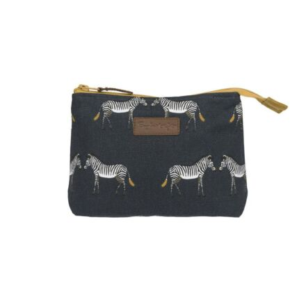 Sophie Allport Zebra Canvas Makeup Bag