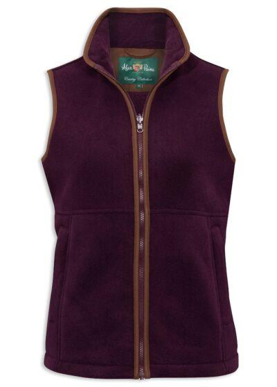 Alan Paine Aylsham Ladies Fleece Waistcoat Sangria