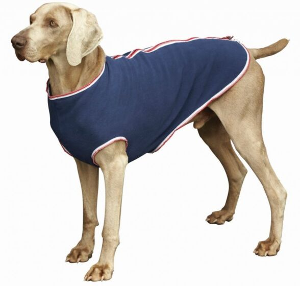 Weatherbeeta Fleece Zip Dog Coat Navy