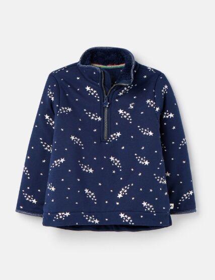 Joules Fairdale Luxe Half Zip Sweatshirt Navy Stars