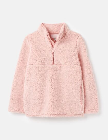 Joules Poppie Half Zip Fleece Pink