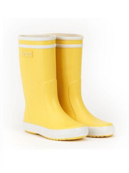 Aigle Lolly Pop Children's Wellington Boots Jaune/Blanc