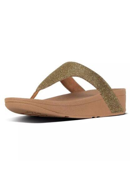 Fitflops Lottie Glitzy Toe-Thong Sandals Artisan Gold