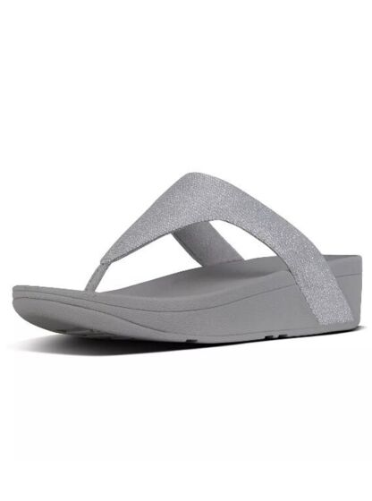 Fitflops Lottie Glitzy Toe-Thong Sandals Silver