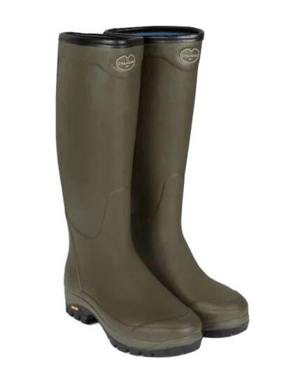 Le Chameau Country Vibram Neoprene Boot Dark Olive