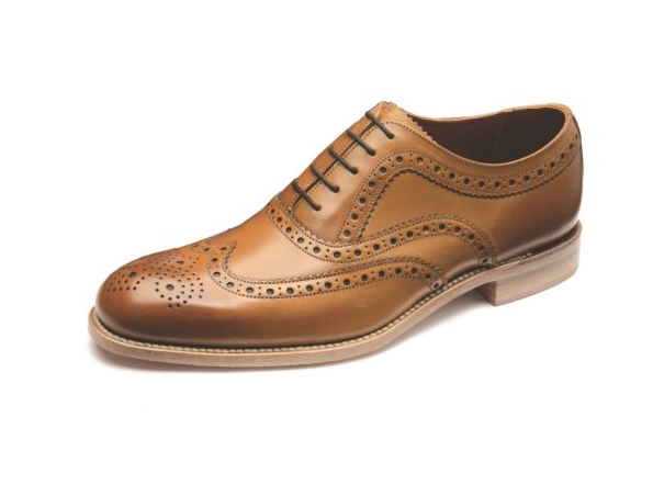 Loake Fearnley Brogue Shoe Tan