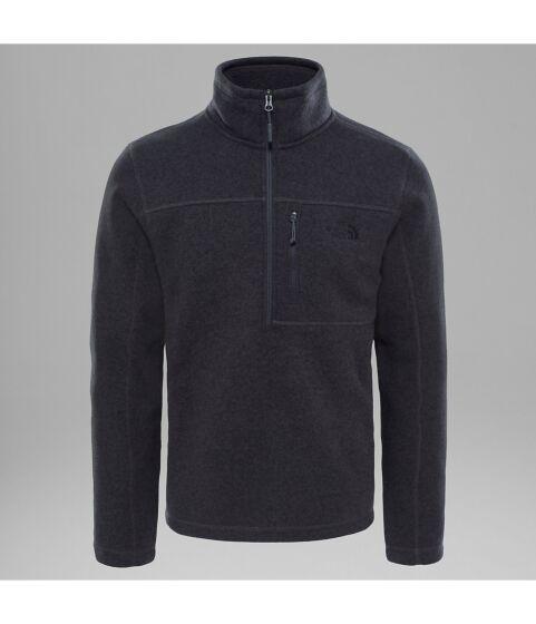 North Face Mens Gordon Lyons 1/4 Zip Pullover Black
