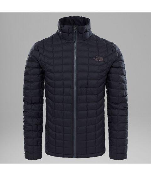North Face Mens Thermoball Full Zip Jacket Black Matt