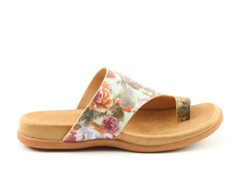 Heavenly Feet Beverley Mint Floral Womens Casual Comfort Slip On Sandals