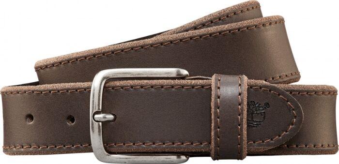 Timberland Basic Rugged Leather Belt Cocoa