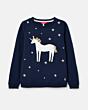 Joules Tiana Sweatshirt Navy Unicorn
