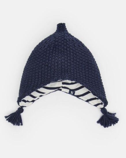 Joules Baby Knit Elf Hat French Navy