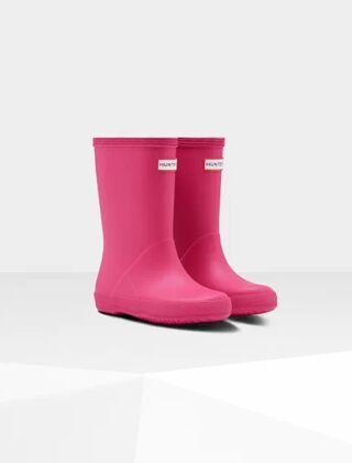 Hunter Original Kids First Classic Wellington Boots Bright Pink