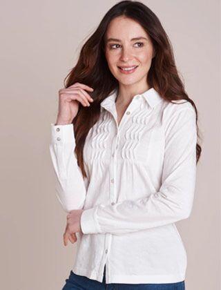 Mistral Bib Front Slub Jersey Shirt Optic White