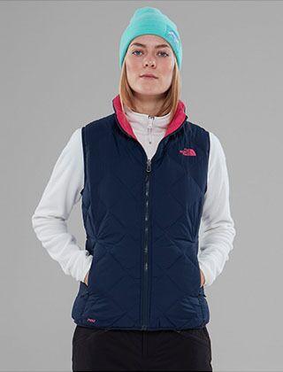 The North Face Women's Zip In Reversible Down Jacket Urban Navy