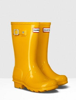 Hunter Kids Original Wellington Boots Gloss Yellow