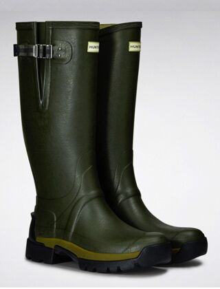 Hunter Men's Balmoral Bamboo Carbon Boots Olive