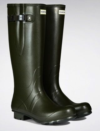 Hunter Men's Norris Side Adjust Neoprene Boot Dark Olive