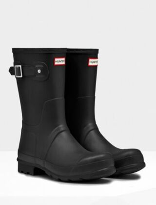 Hunter Men's Original Short Boot Black